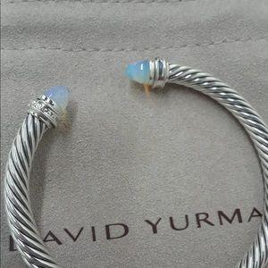 🌼DAVID YURMAN Silver Cable Bracelet Moonstone 5mm